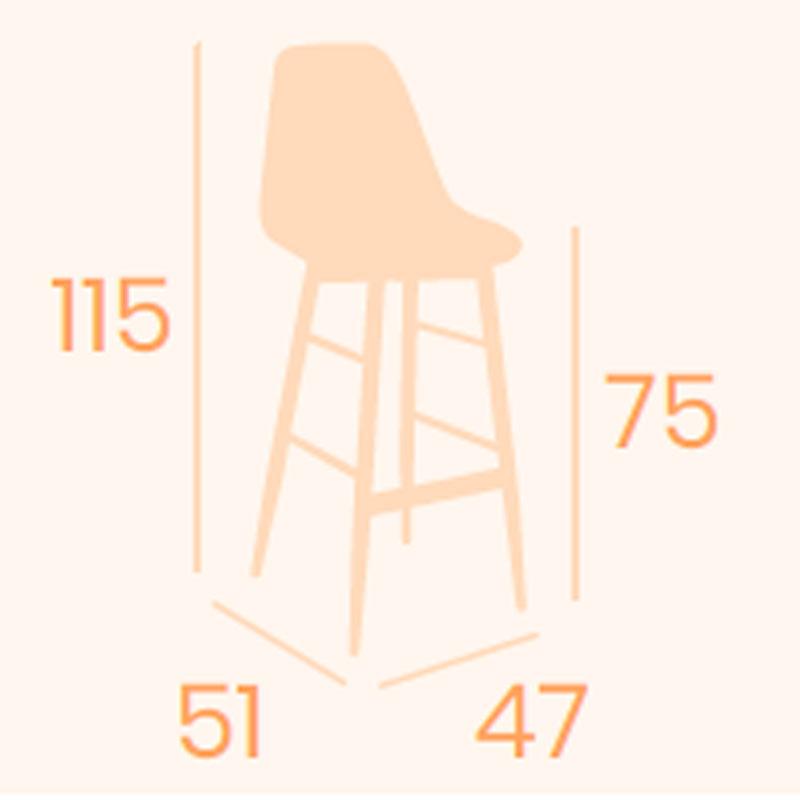 Dimensiones Banqueta Picasso P-4 REYMA
