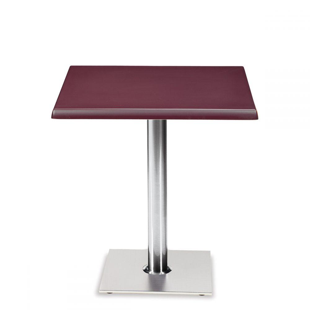 mesa roma base cuadrada