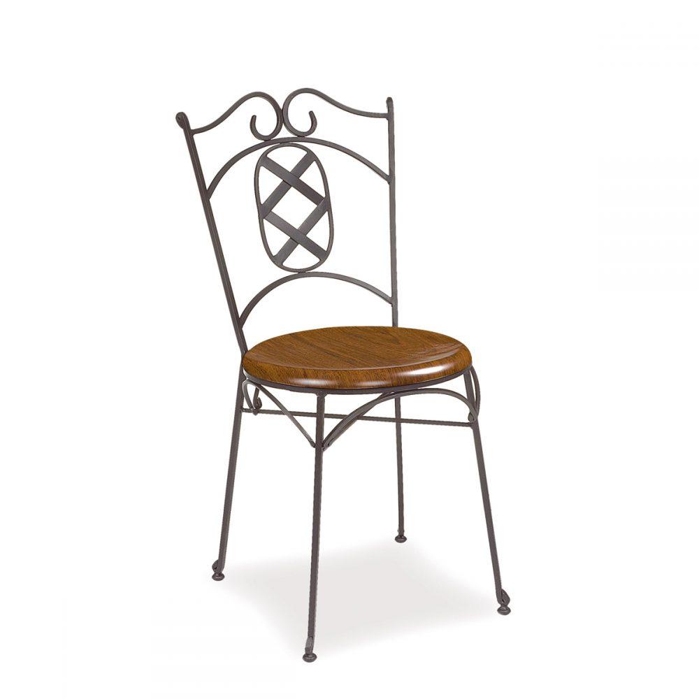 silla ronda forja de hierro