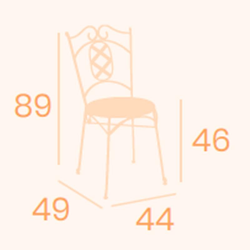 Dimensiones silla Ronda REYMA