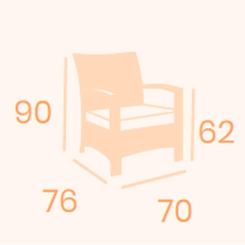 Dimensiones sillón Varese REYMA