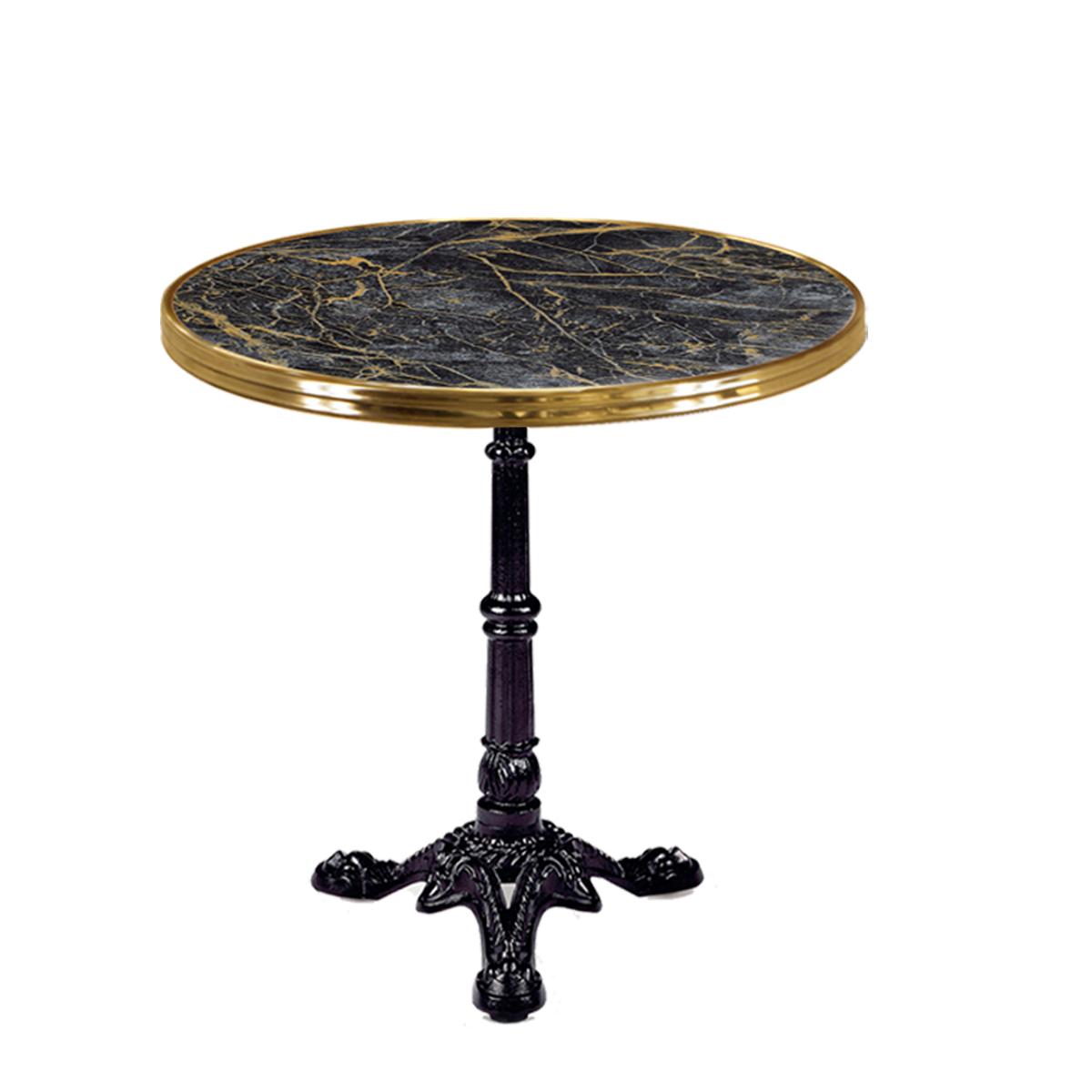 mesa parisino negra aro latón