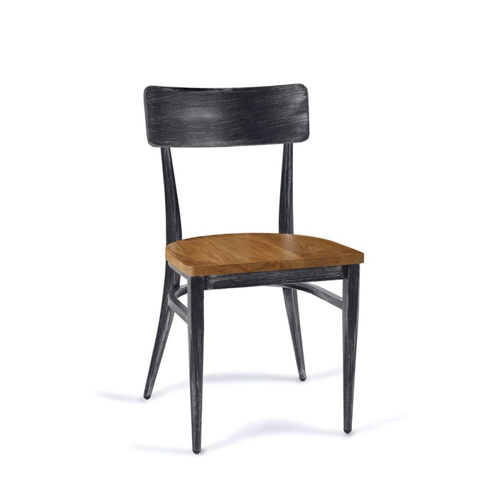 silla pensilvania negro con macizo