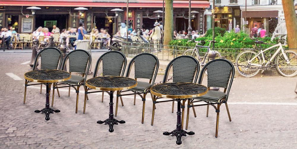 mobiliario para hostelería tendencia terrazas parisinas