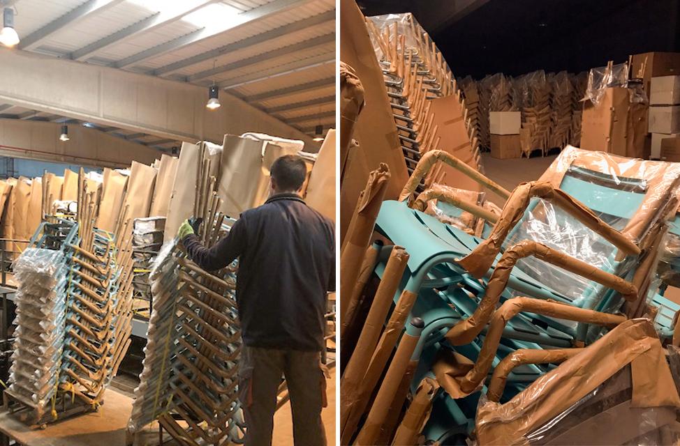 gestión de almacenes mobiliario hostelería Reyma