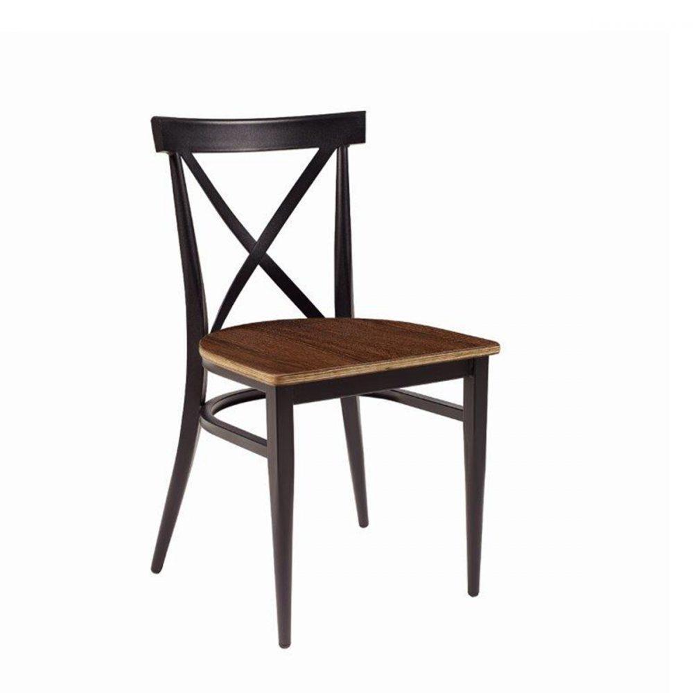 silla orlando con asiento nogal vintage