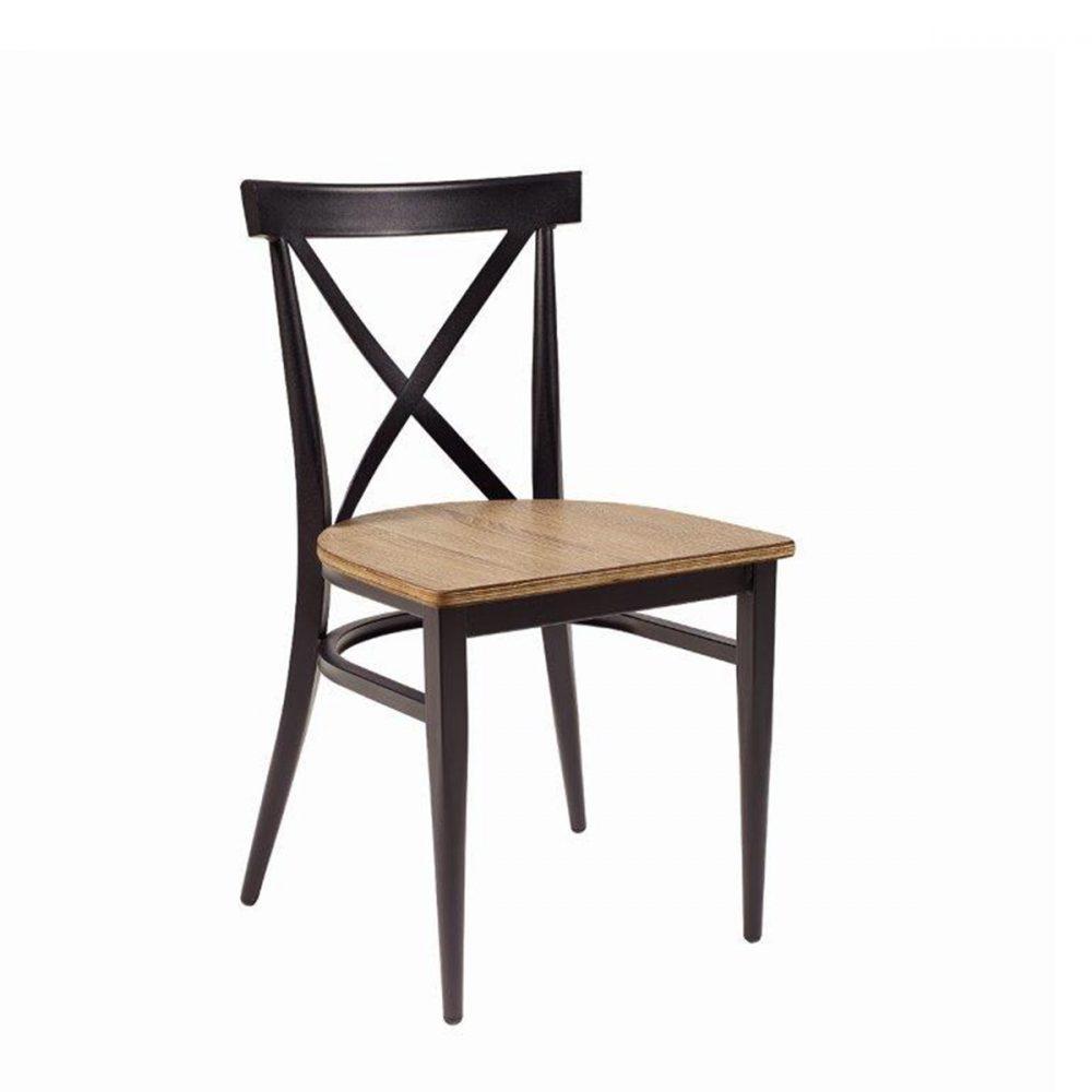 silla orlando con asiento roble vintage