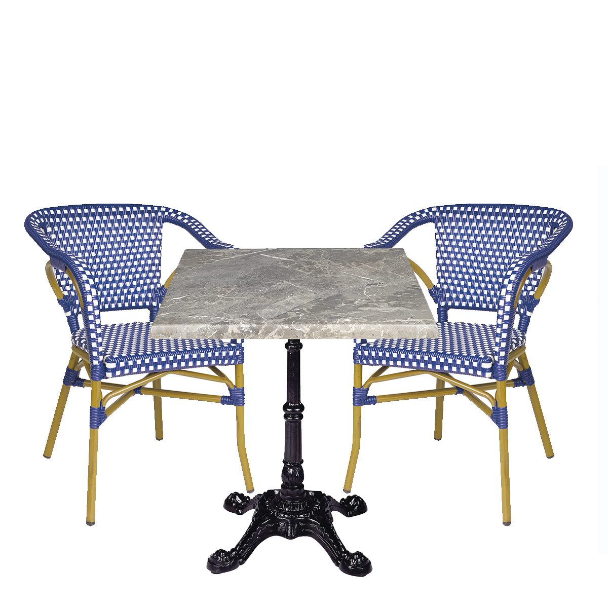 conjunt paris con sillones azul REYMA
