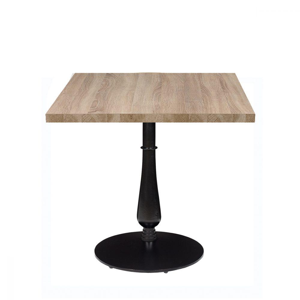 mesa 4550 columna fundicion torneada tablero melamina
