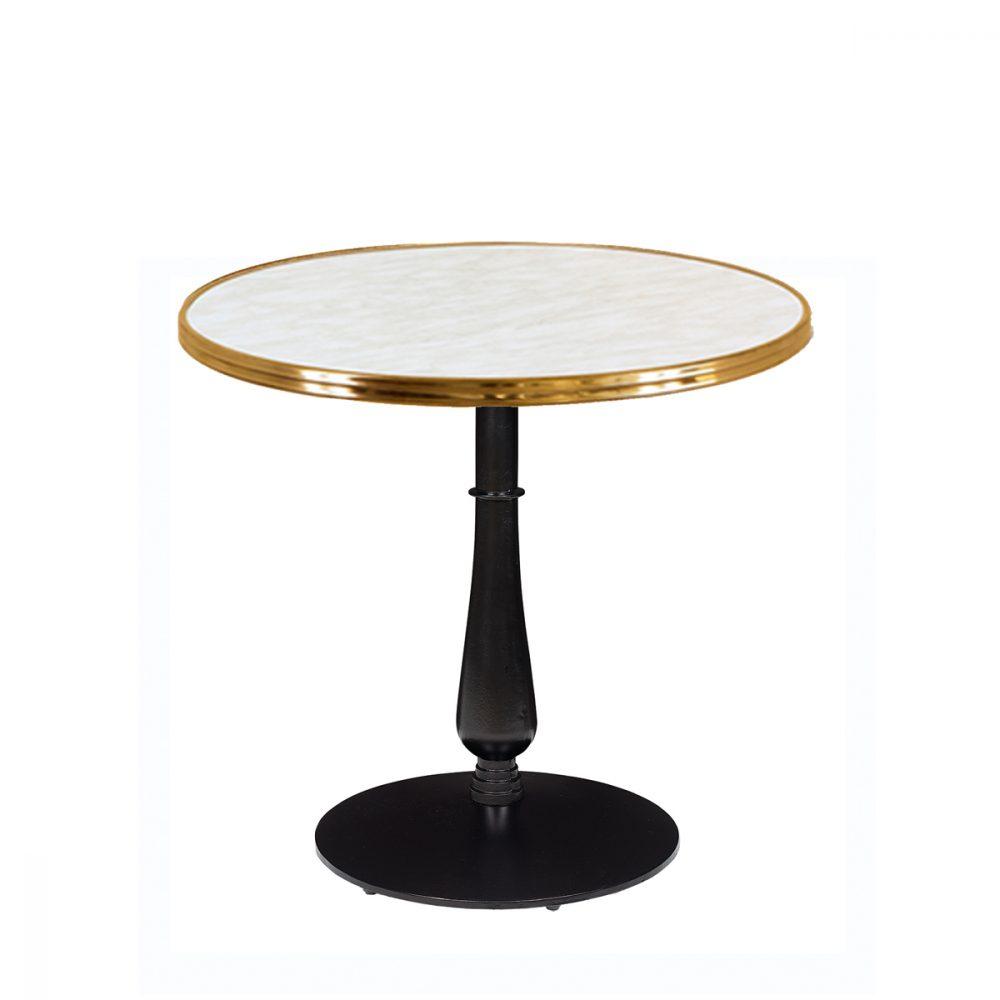 mesa 4550 columna fundicion torneada tablero marmol aro laton