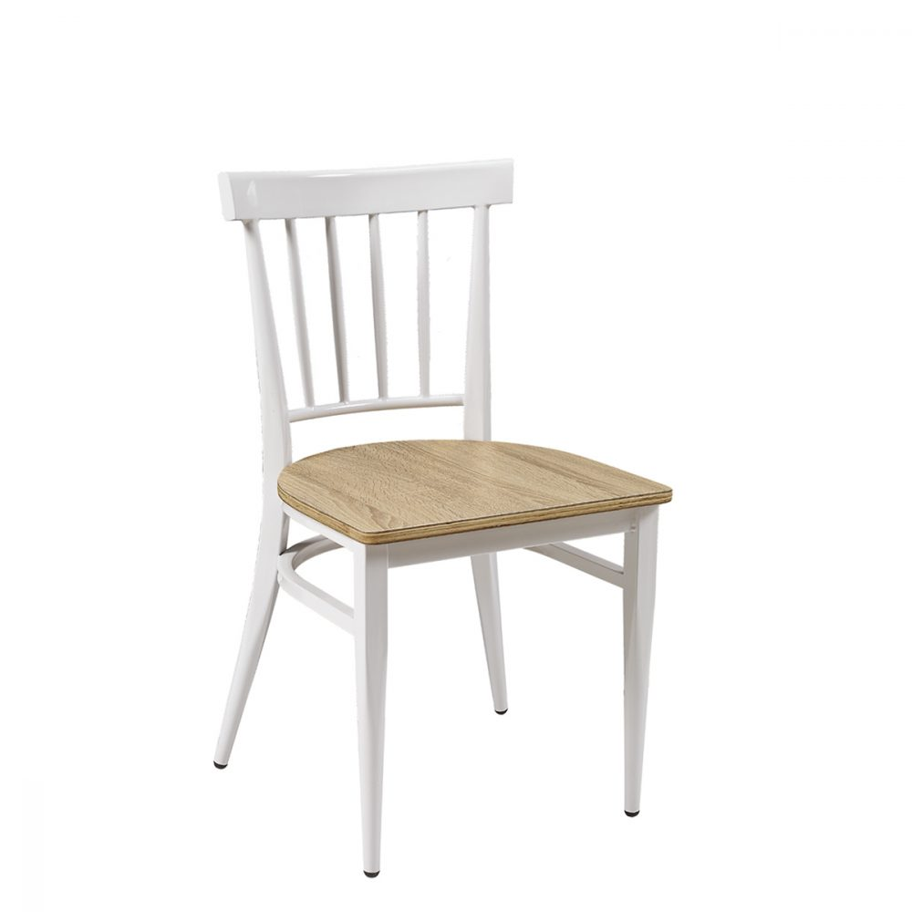 silla arizona blanca limado roble vintage
