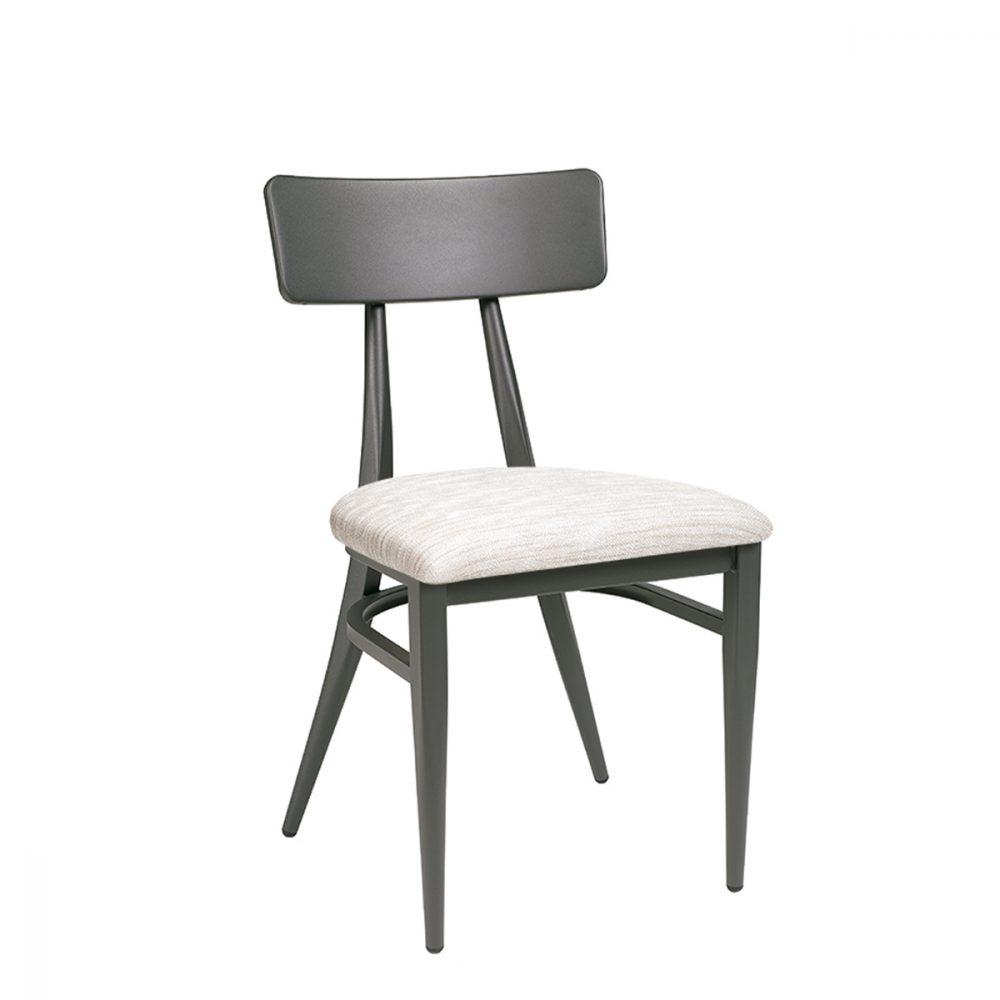 silla montana grafito asiento tapizado indiana