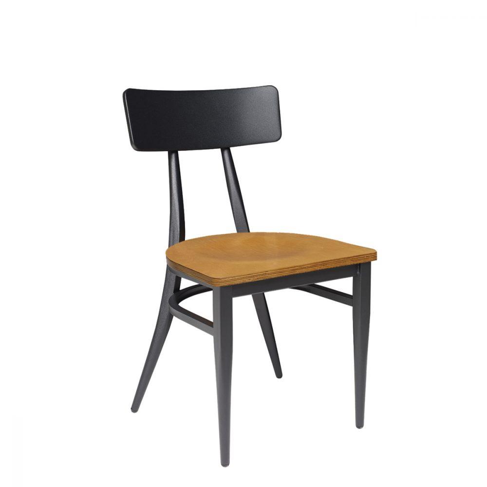 silla montana negro asiento laminado