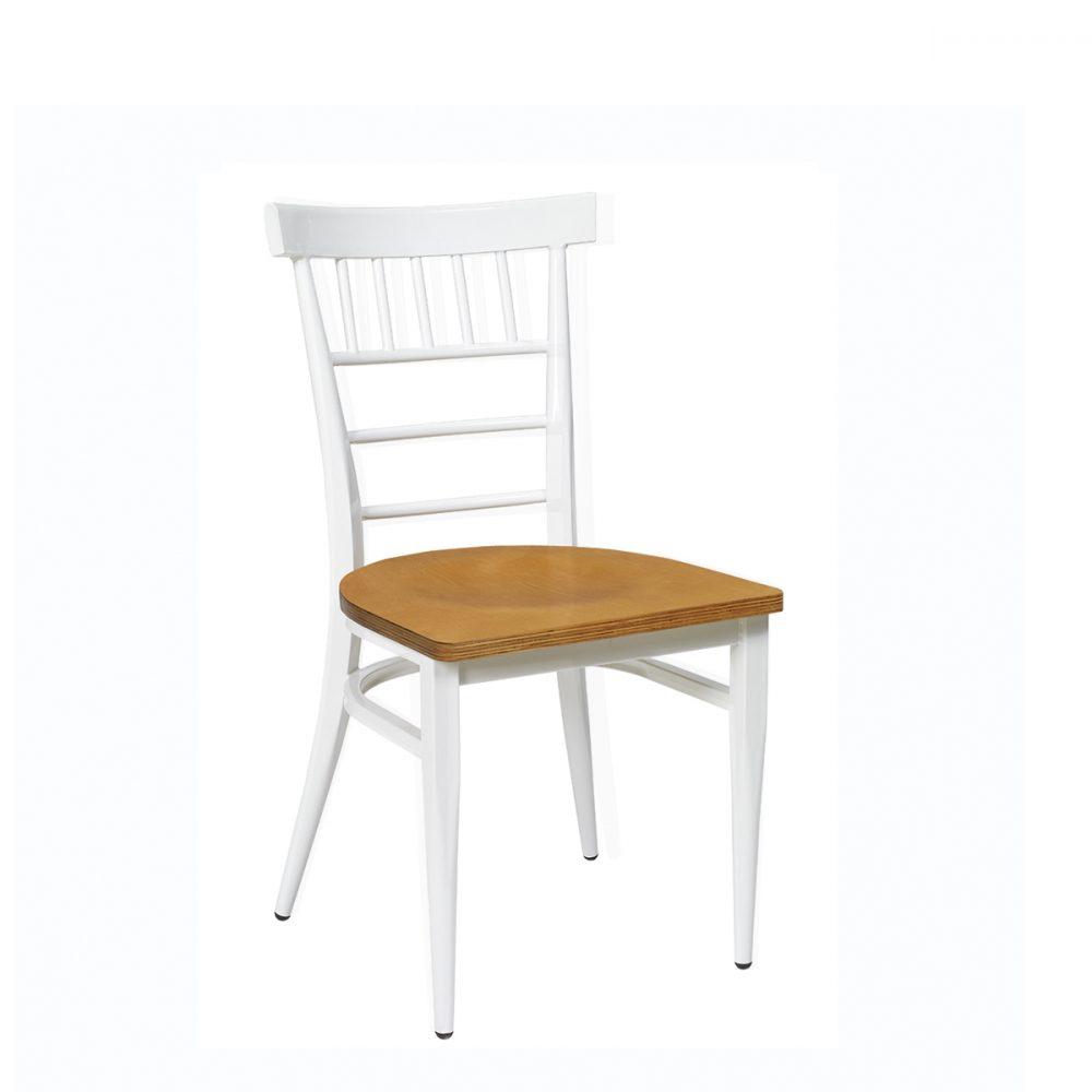 silla nevada blanca con asiento laminado