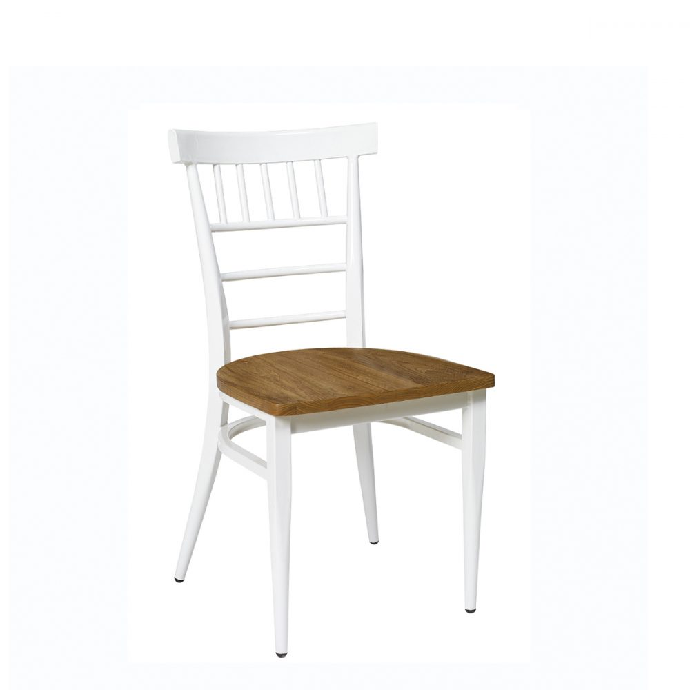 silla nevada blanca con asiento macizo