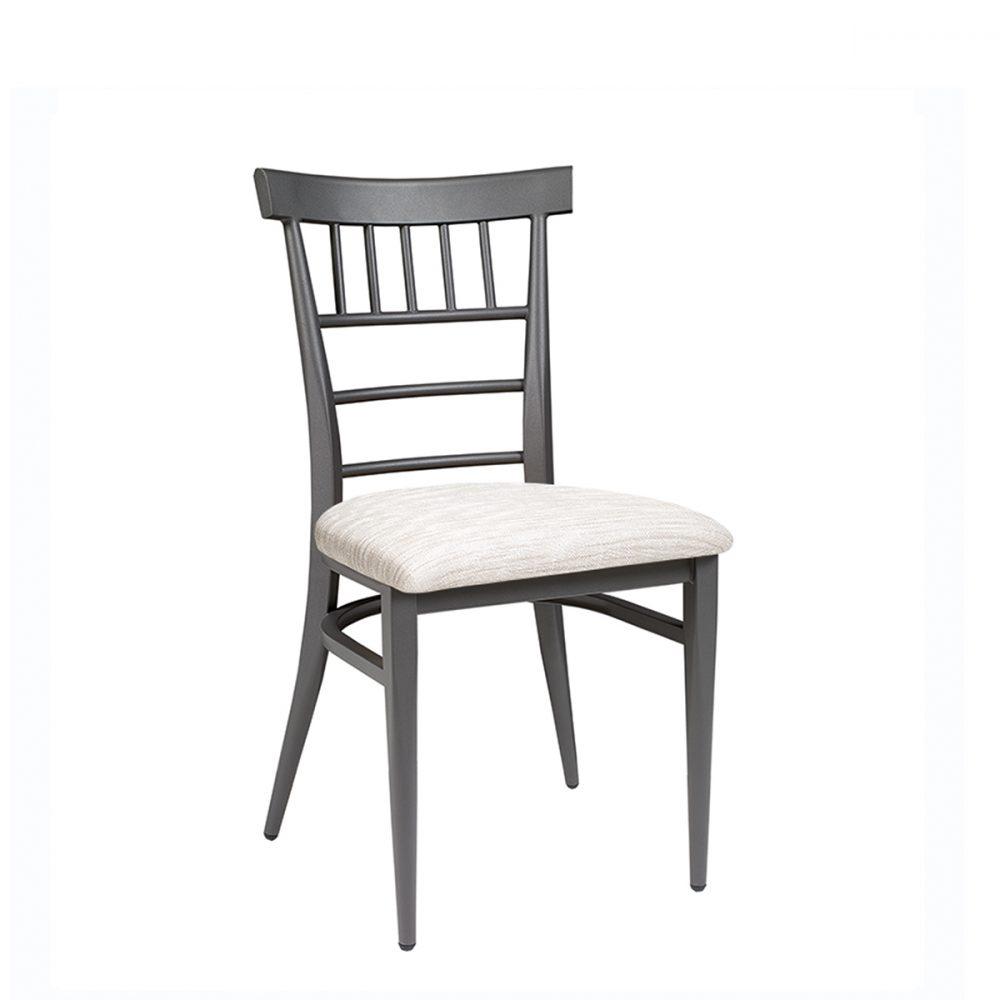 silla nevada grafito asiento tapizado