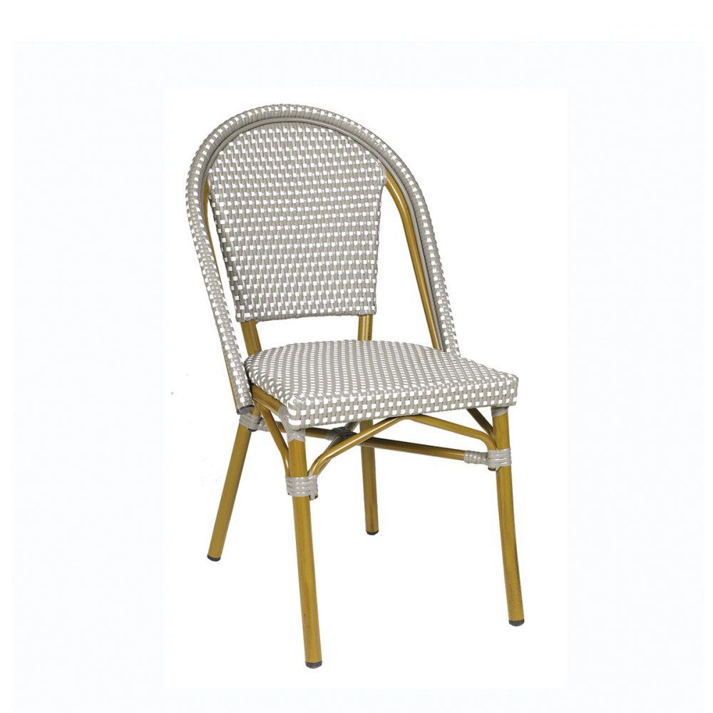 silla paris medula gris y blanco