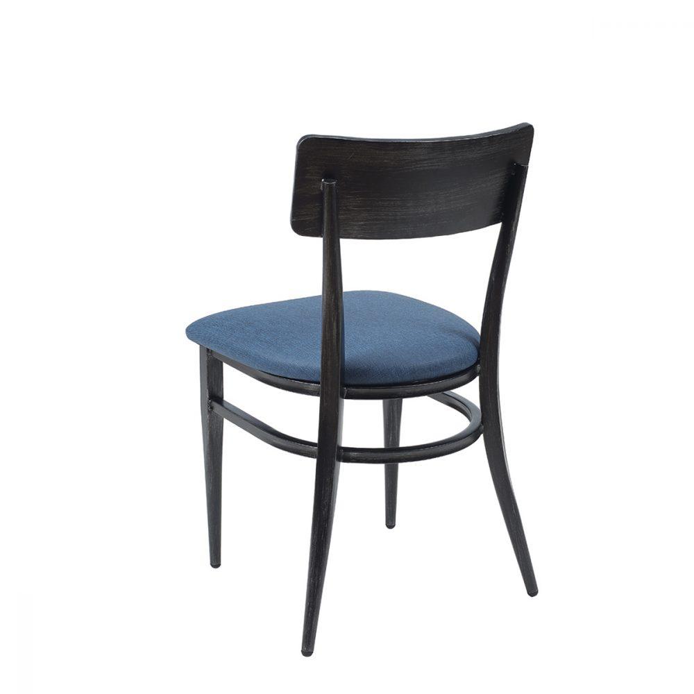 silla pensilvania negro envejecido trasera