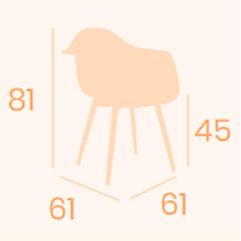 Dimensiones sillón Picasso P-4 REYMA