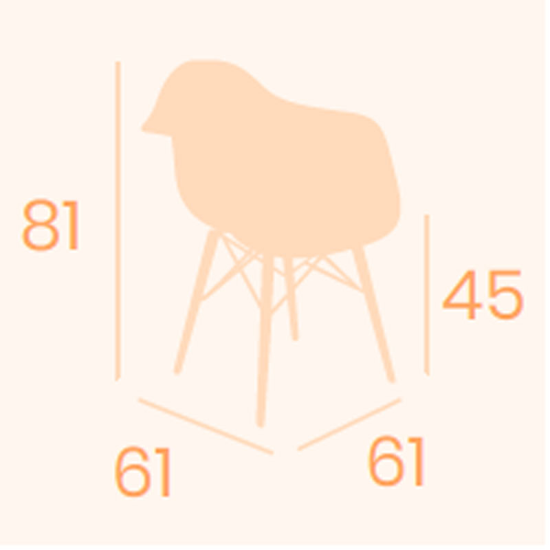 Dimensiones sillón Picasso X-4 REYMA