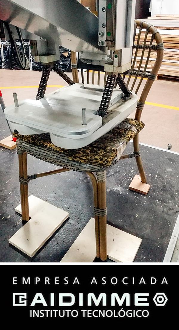 ensayos de calidad silla Maldivas