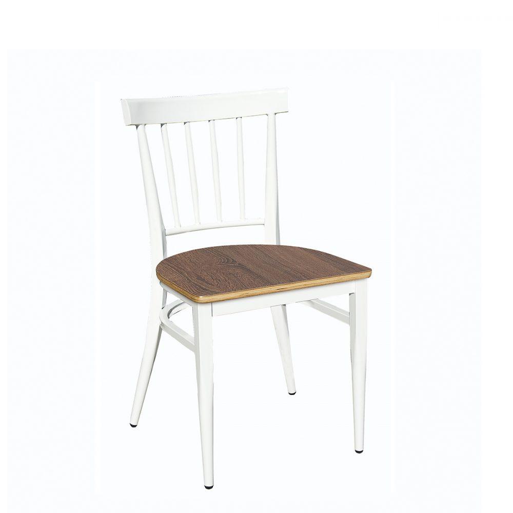 silla arizona blanca con asiento laminado