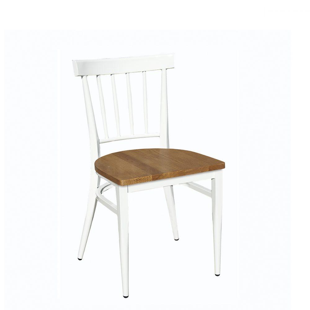 asilla arizona blanca con asiento macizo
