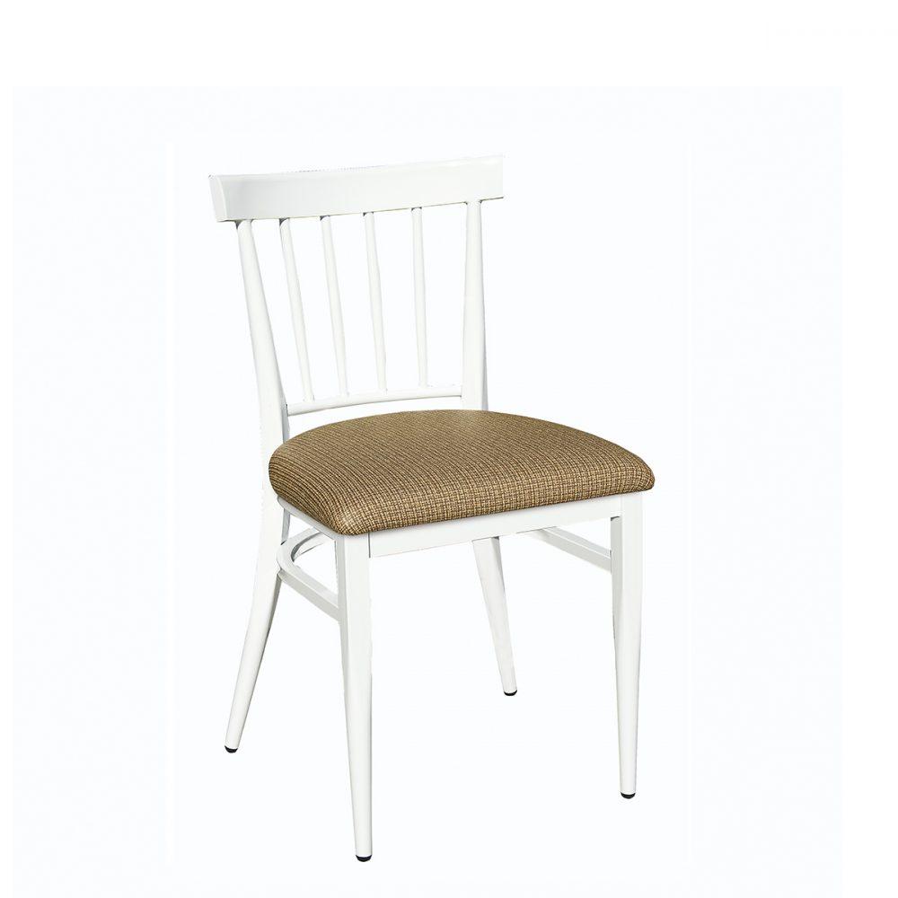 silla arizona blanca con asiento tapizado