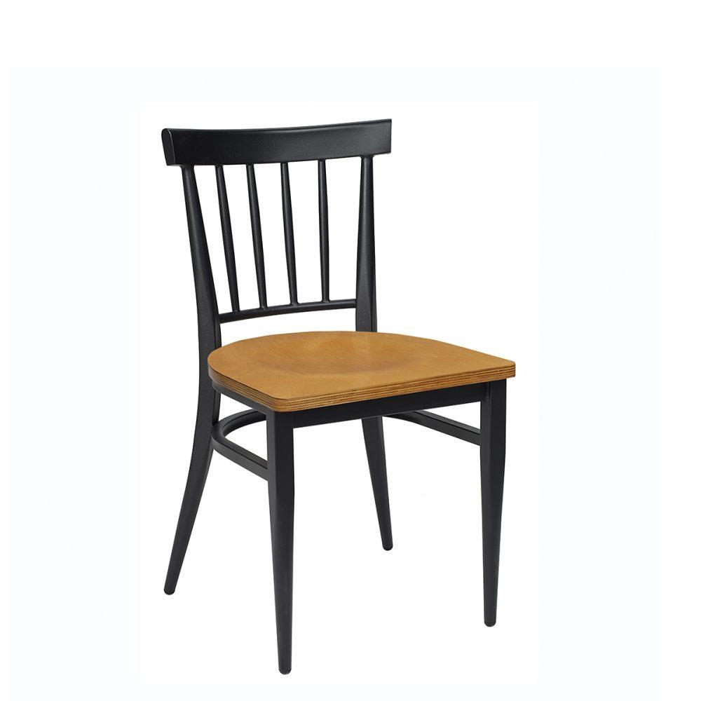 silla arizona negra con asiento laminado