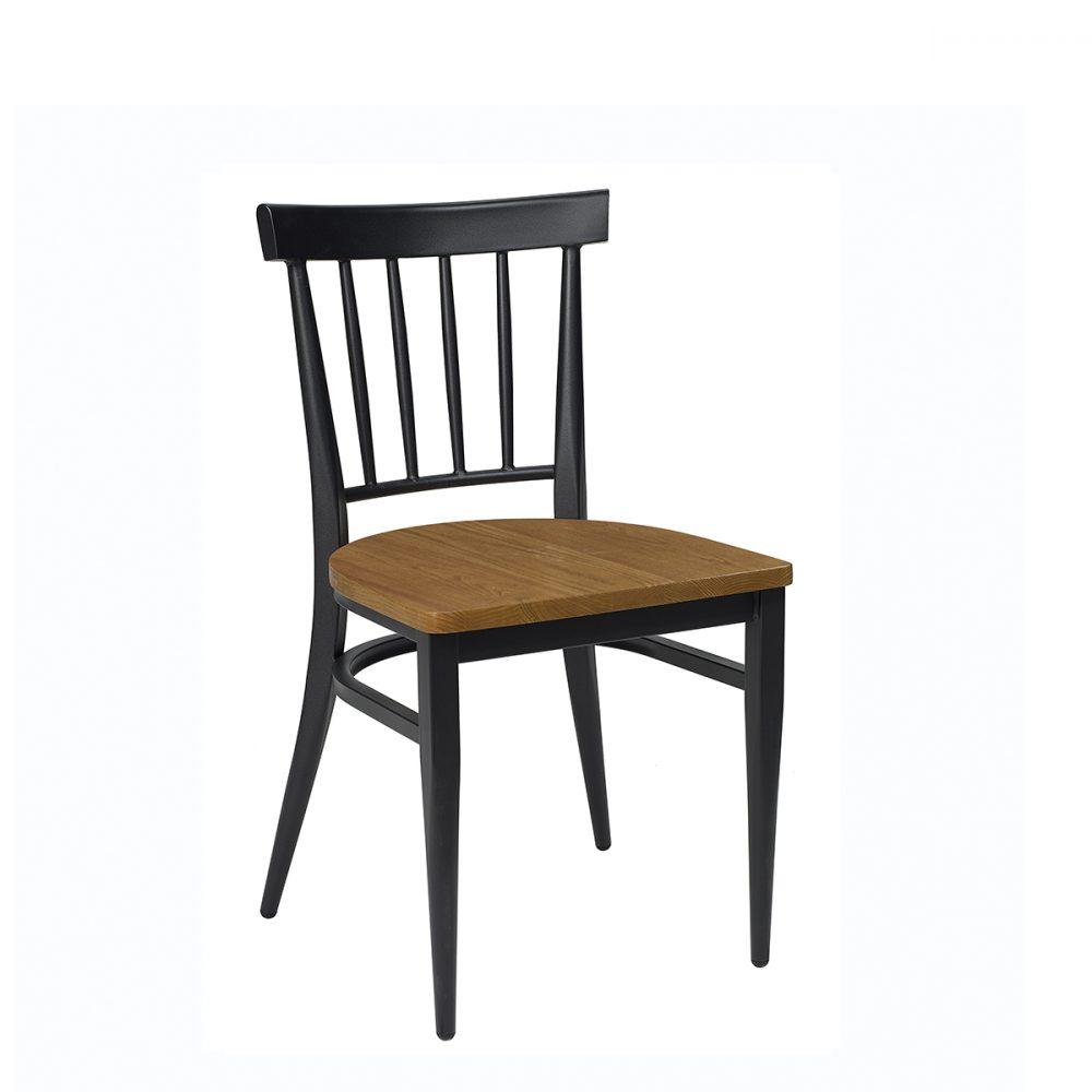 silla arizona negra con asiento macizo
