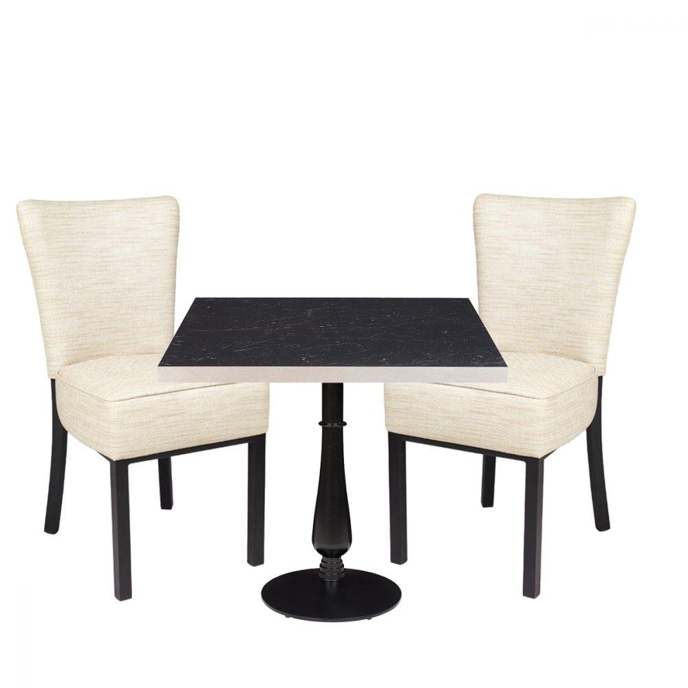 conjunto mesa 4150 torneada y sillas gran bohemia