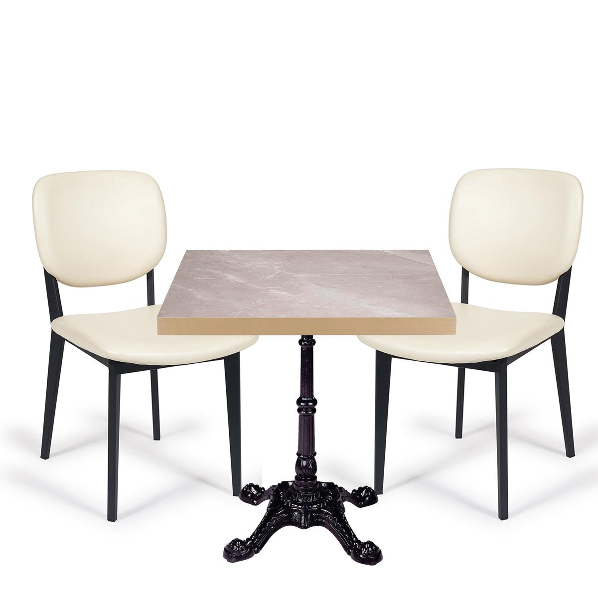 conjunto mesa paris con sillas lombardia