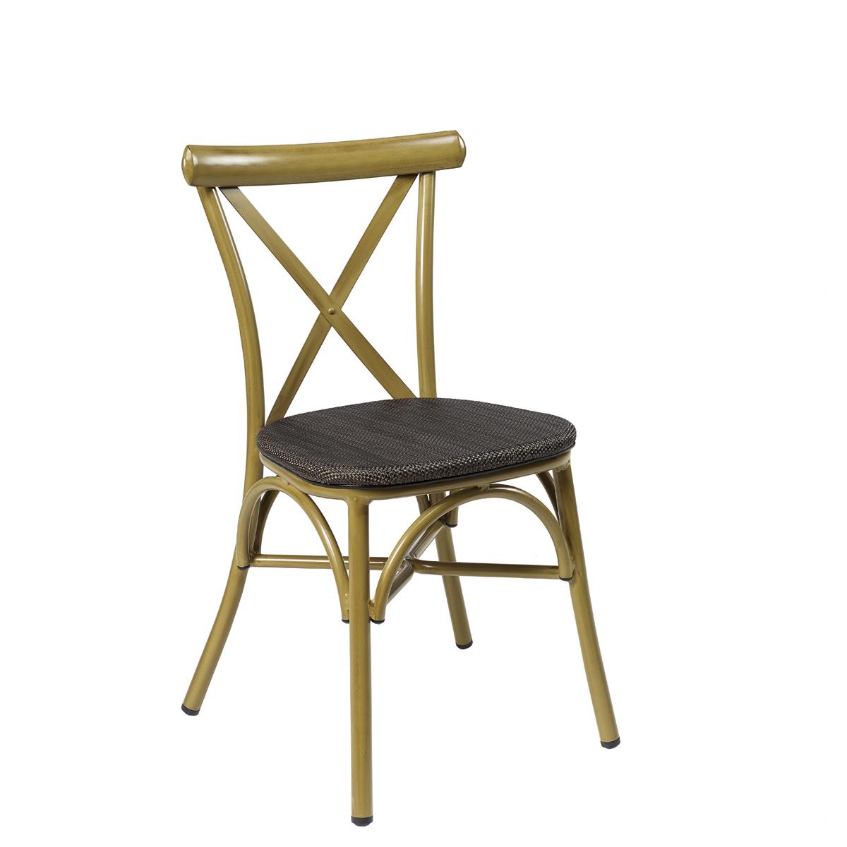 silla atico bambu textilene negro