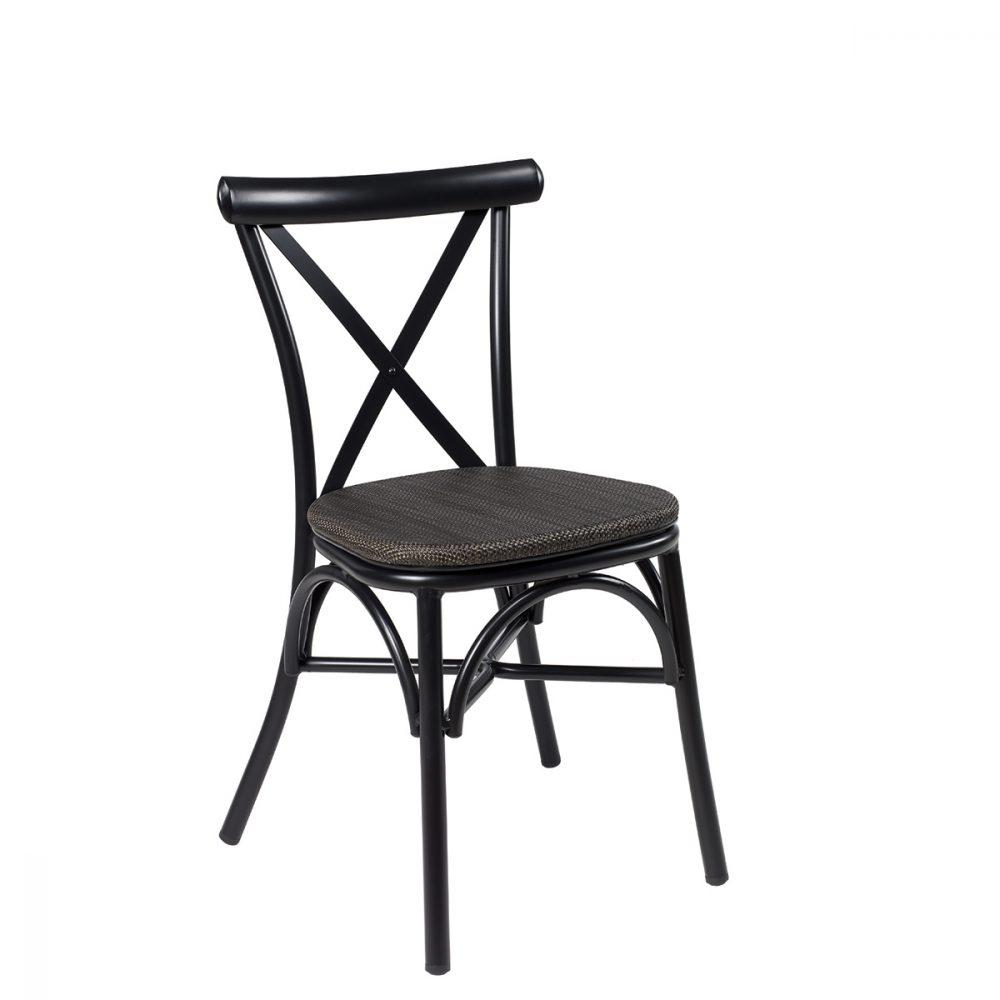 silla atico negro textilene negro