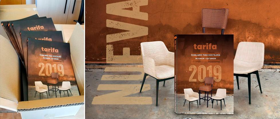 Nueva tarifa mobiliario hostelería 2019