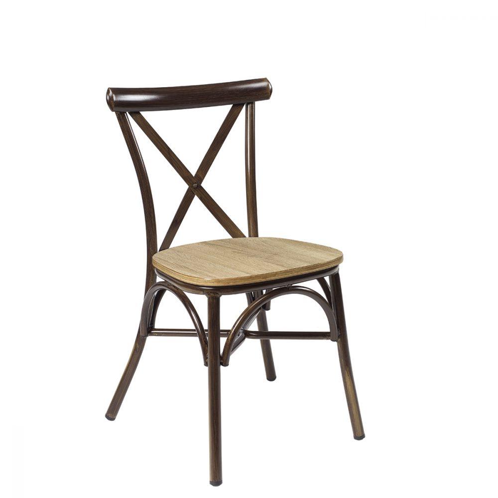silla atico nogal laminado roble