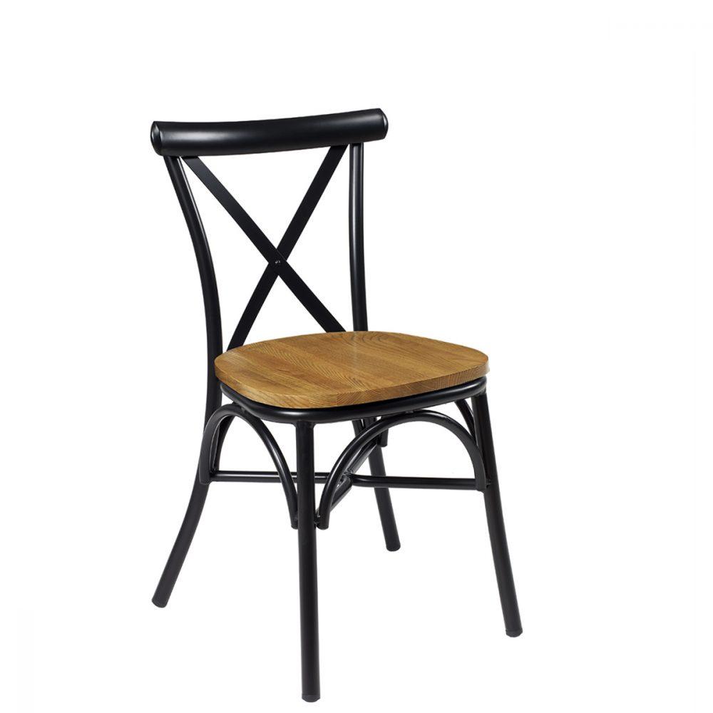 silla atico negro macizo