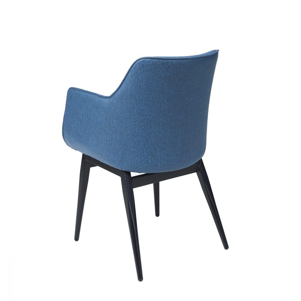 sillon davos tapizado azul trasera