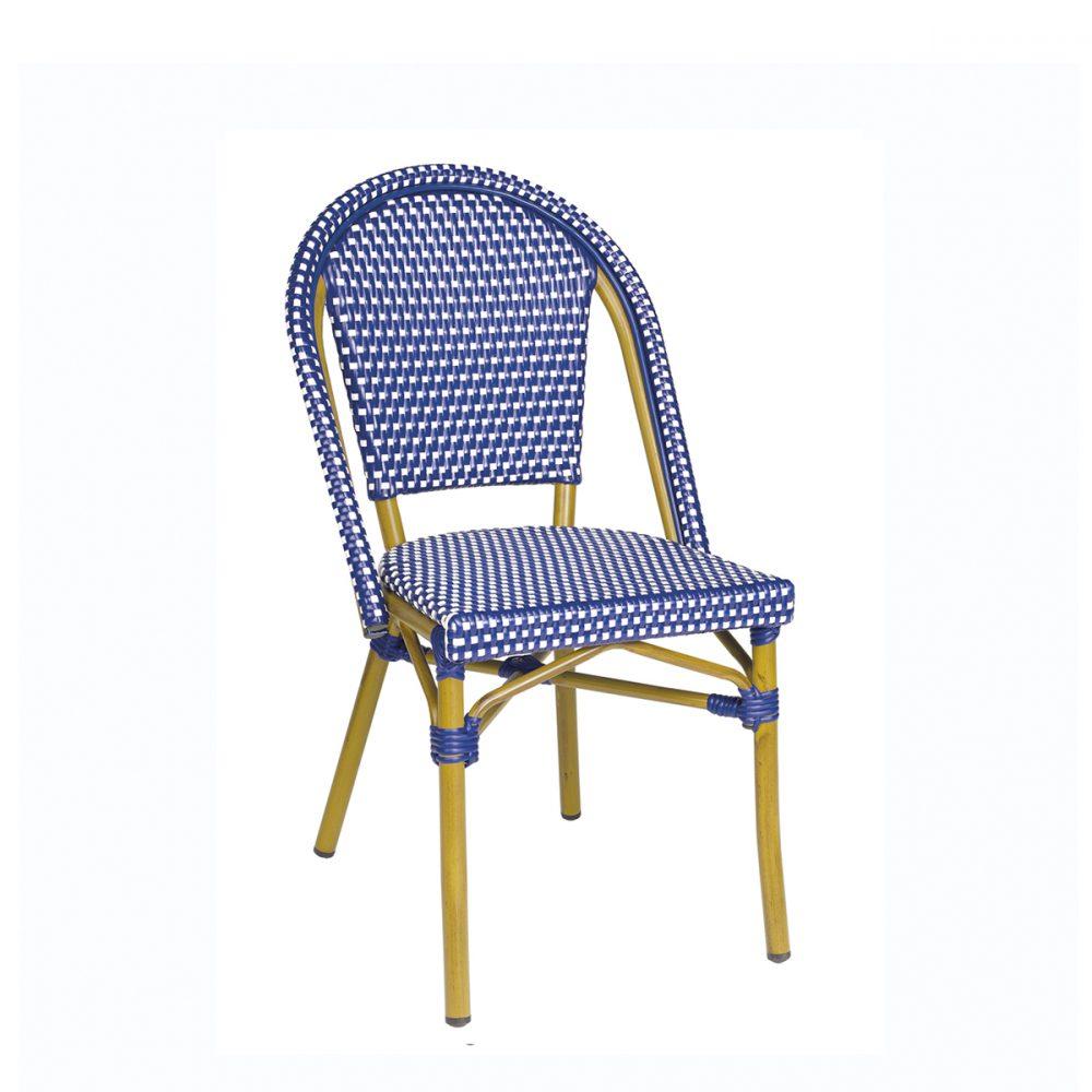 silla paris azul y blanco