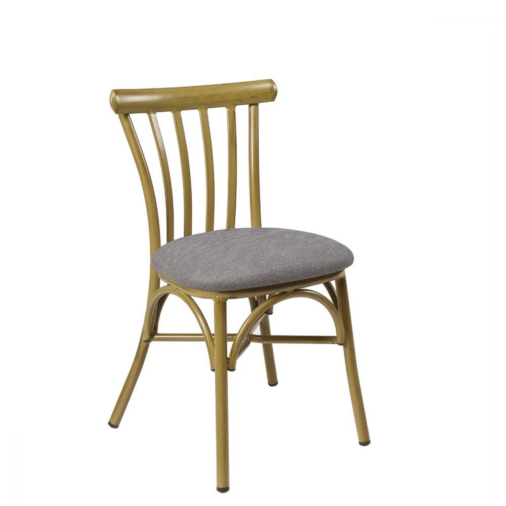 silla portico bambu tapizado gris