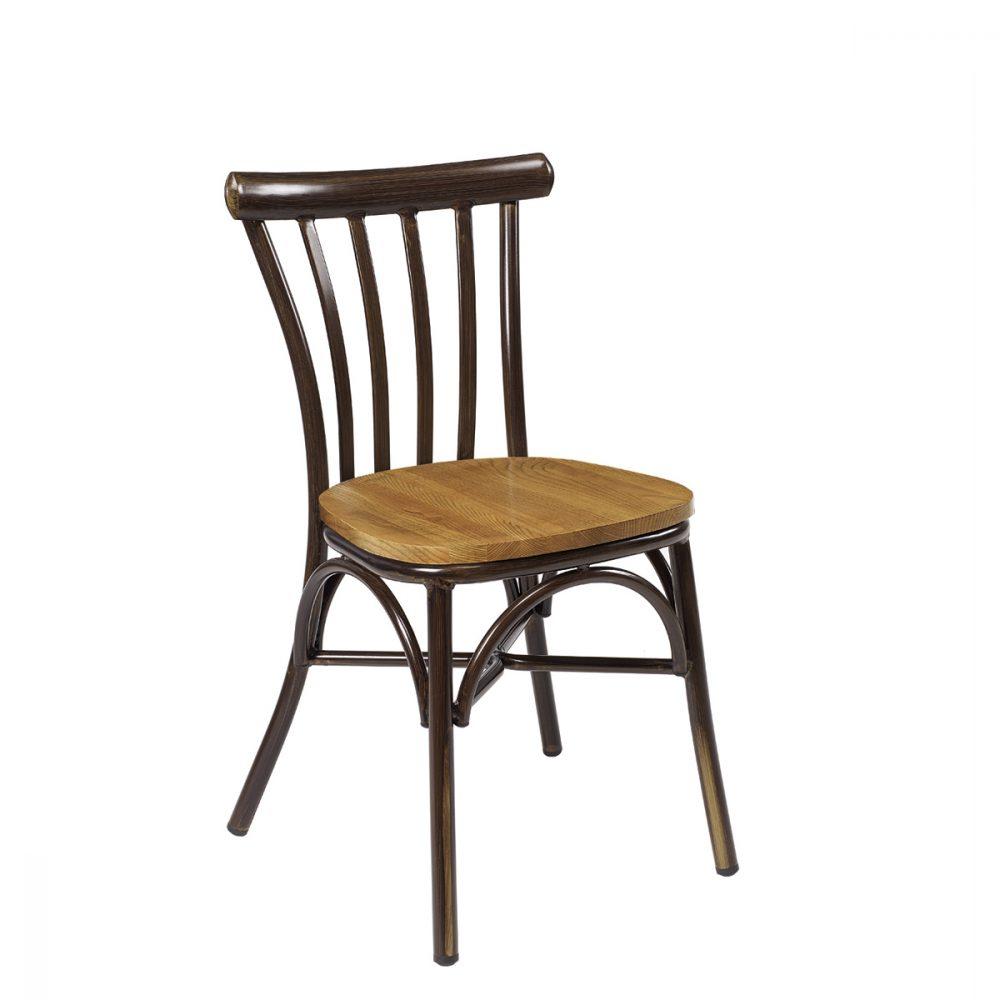 silla portico nogal macizo