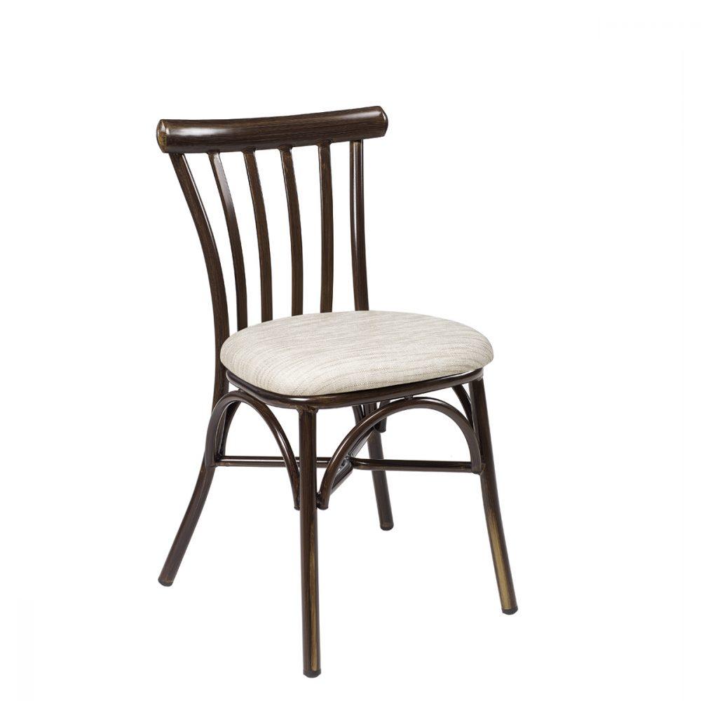 silla portico nogal tapizado indiana