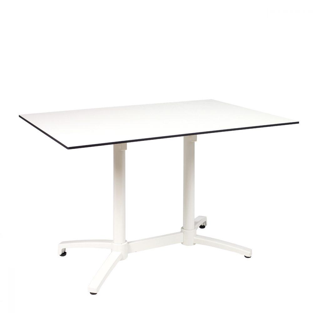 mesa noruega blanca rectangular con tablero compact blanco