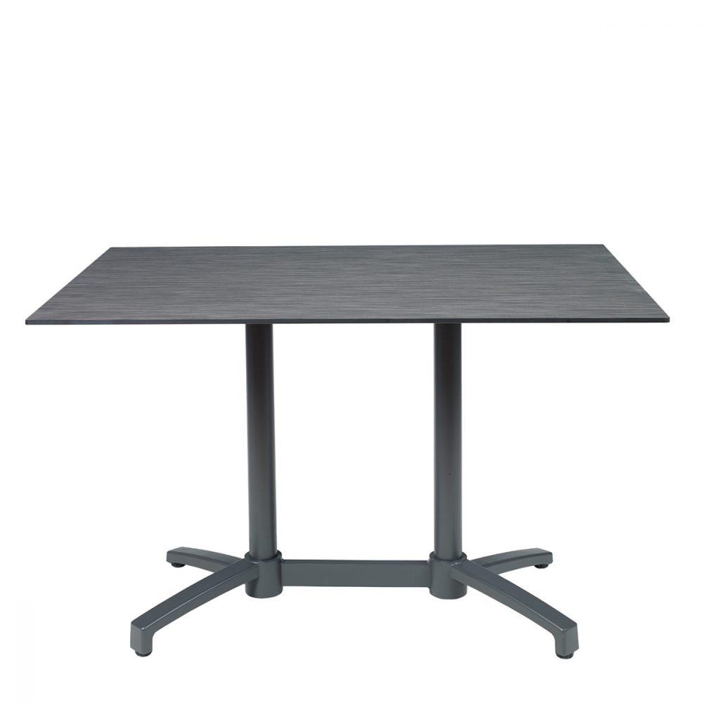 mesa noruega rectangular grafito con tablero compact