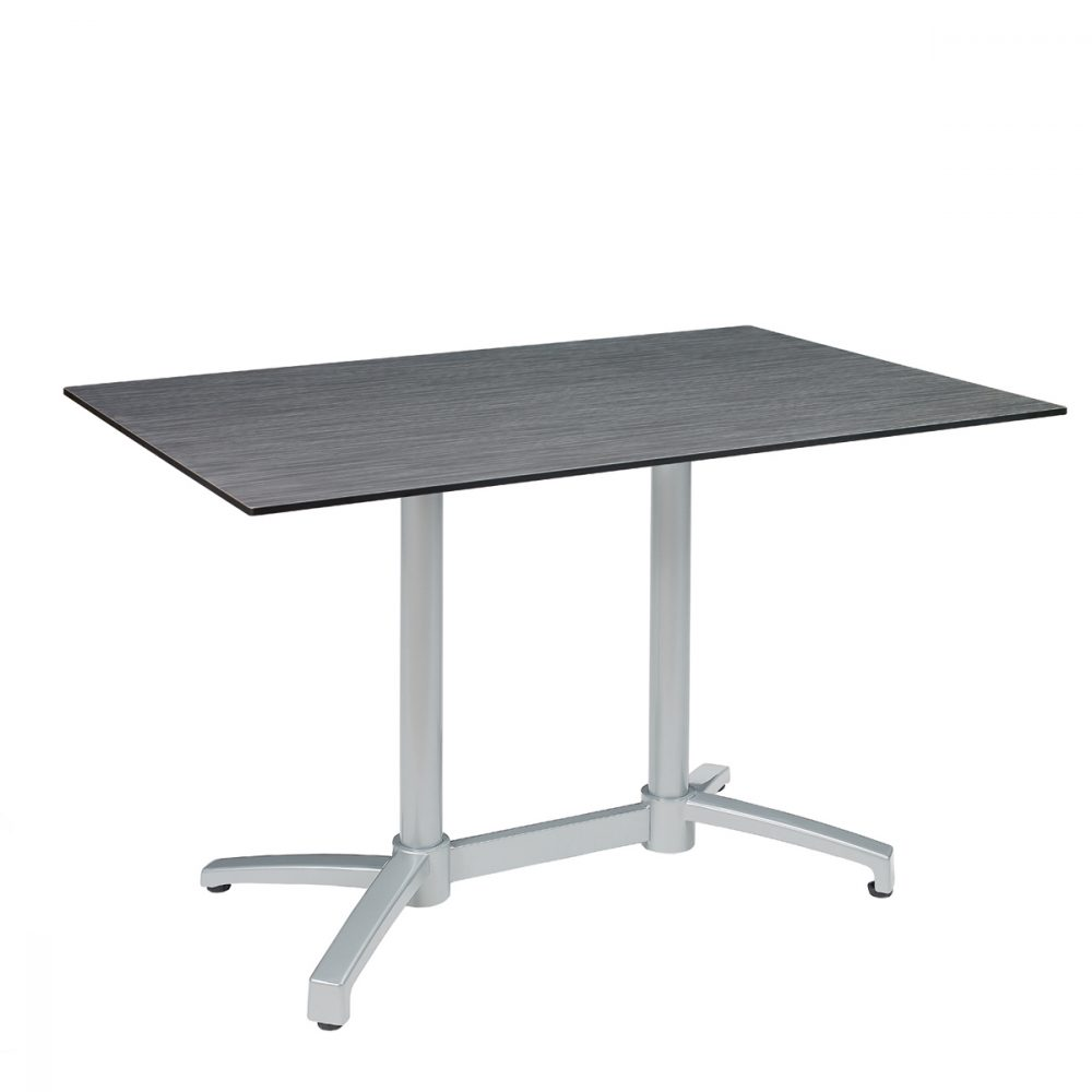 mesa noruega rectangular gris con tablero compact