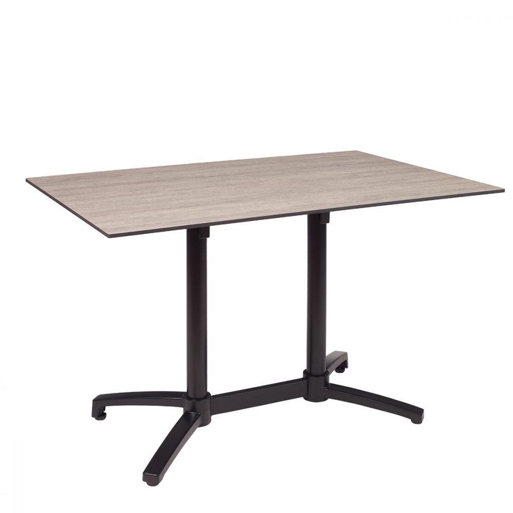 mesa noruega rectangular negra con tablero compact