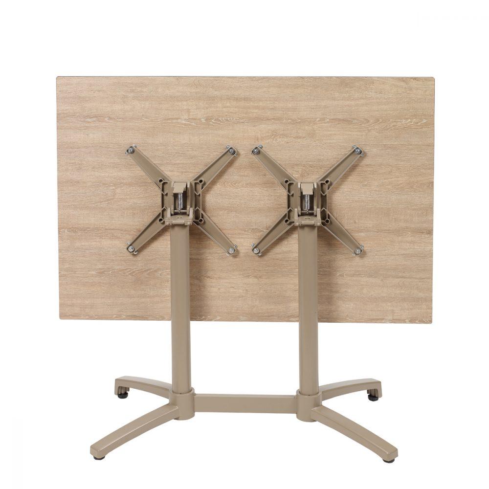 mesa noruega rectangular taupe abatida con tablero compact