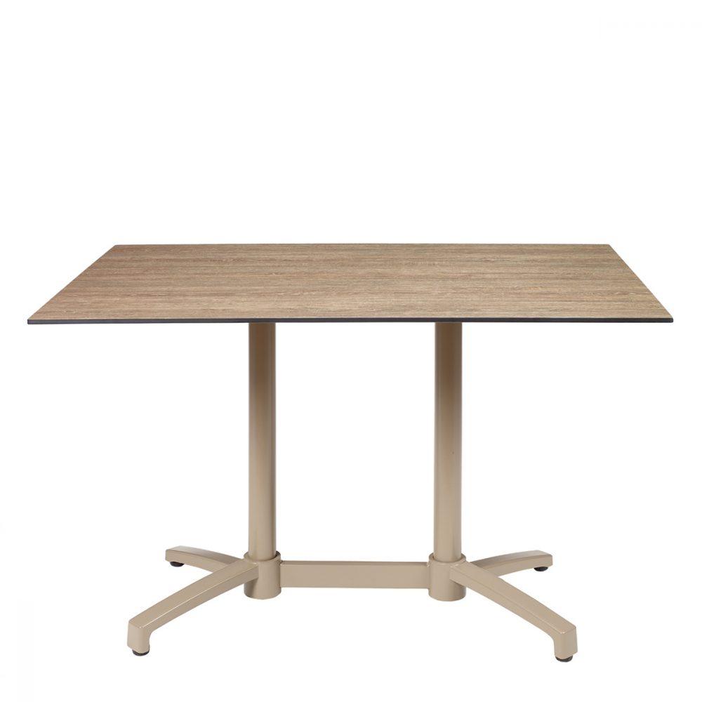mesa noruega rectangular taupe tablero compact rural