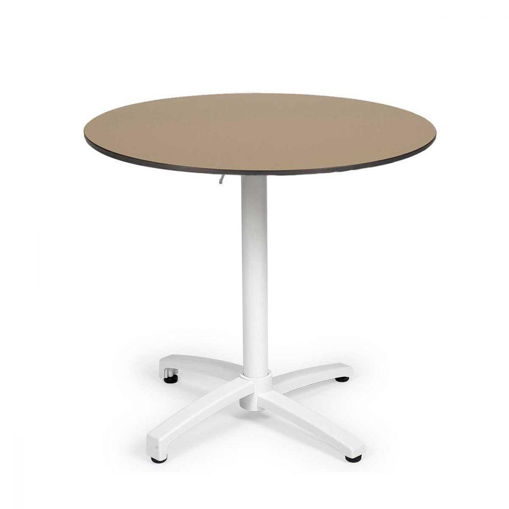 mesa noruega con tablero compact redondo