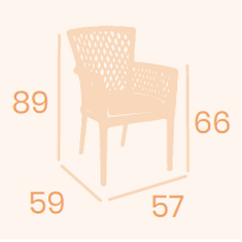 Dimensions armchair Kioto REYMA